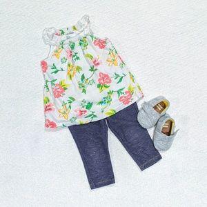 🌸Baby Gap floral onesie 6-12mo